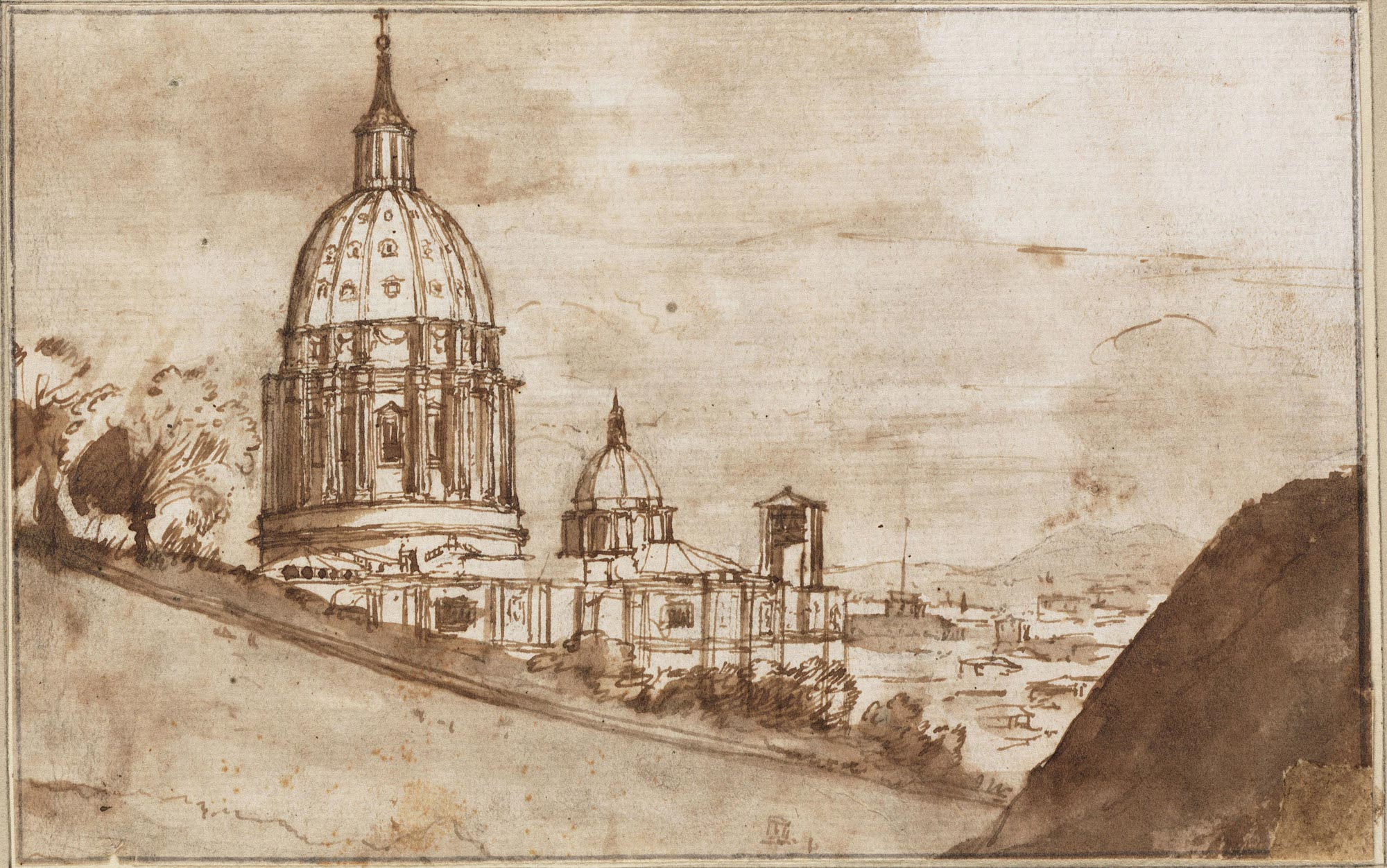 Claude Lorrain View Of The Apse And Cupola Of St Peter S